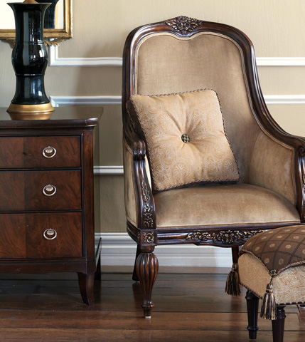 Eastern Accents - Birkdale Chocolate Pillow Top Stool - OTD-310