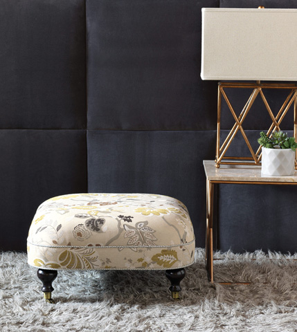 Eastern Accents - Caldwell Ottoman On Casters - OTD-314