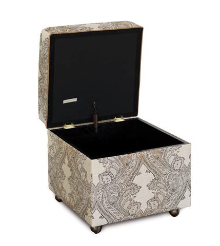 Eastern Accents - Aiden Oat Storage Box Ottoman - OTD-359