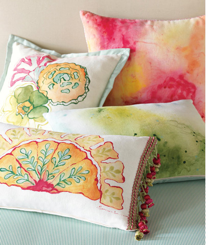 Eastern Accents - Filly White Hand-Painted Pillow - PTI-09