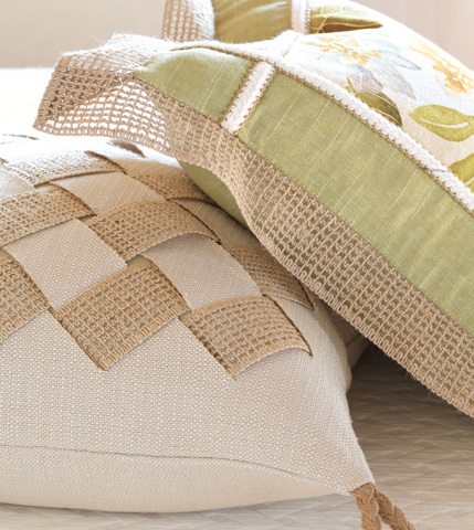 Eastern Accents - Vivo Bisque Pillow with Basket Weave - SLG-09