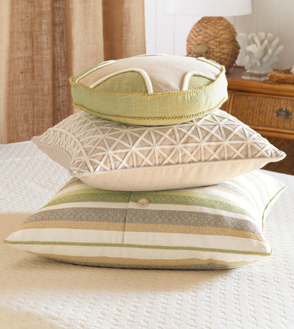 Eastern Accents - Vivo Bisque Tambourine Pillow - SLG-12