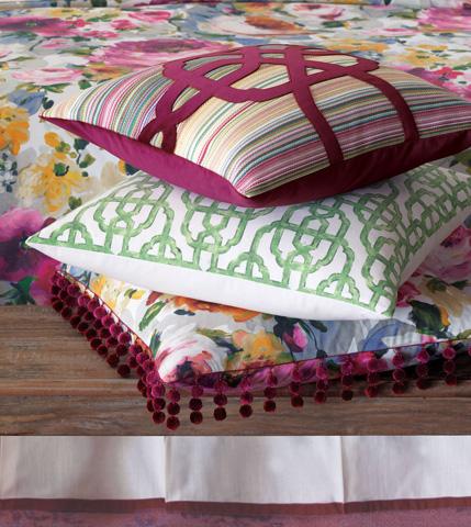 Eastern Accents - Coleton Confetti Pillow with Trellis Design - TRE-09