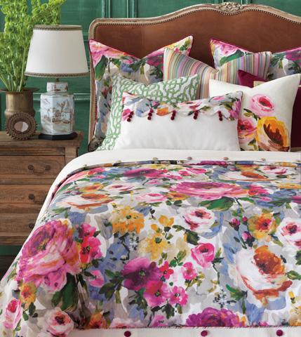 Eastern Accents - Tresco Bloom Scallops Pillow - TRE-10