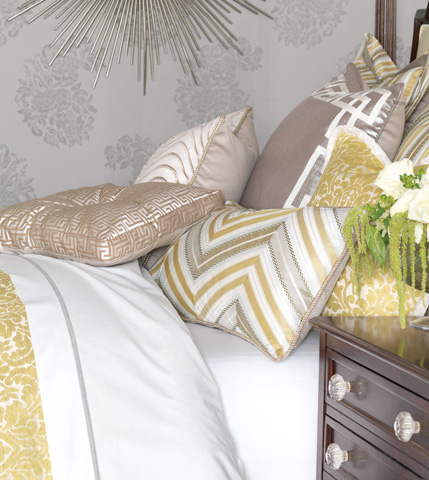Eastern Accents - Genevieve Citrine Diagonal Inserts Pillow - WAK-02
