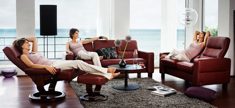Ekornes - Stressless Wave High Back Sofa - 1125030