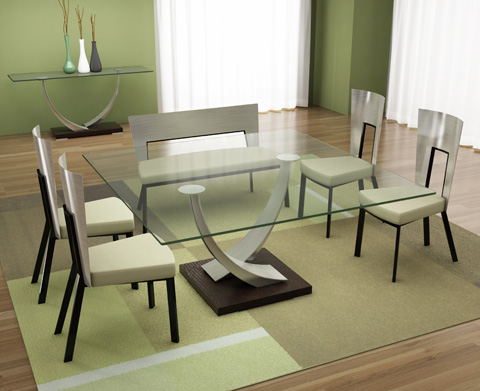 Elite Modern - Tangent Square Dining Table - 342SQR