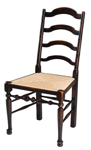 Encore - Ladder Back Rush Seat Side Chair - 60-4