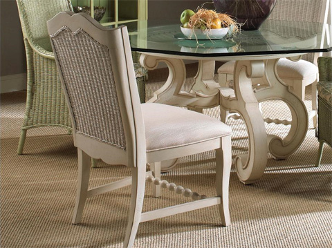 Fine Furniture Design - Wicker Back Side Chair - 1051-824