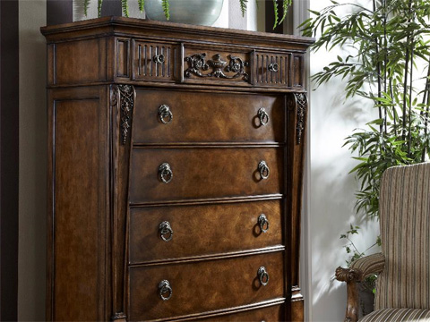 Fine Furniture Design - Drawer Chest with Carved Detail - 1150-110