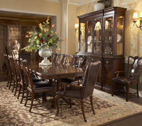 Fine Furniture Design & Marketing - Double Pedestal Dining Table - 1110-818/819