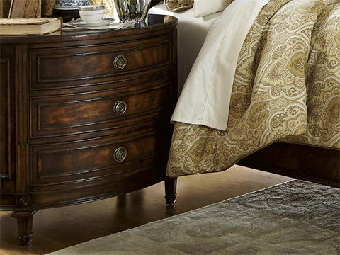 Image of Oval Drawer Nightstand
