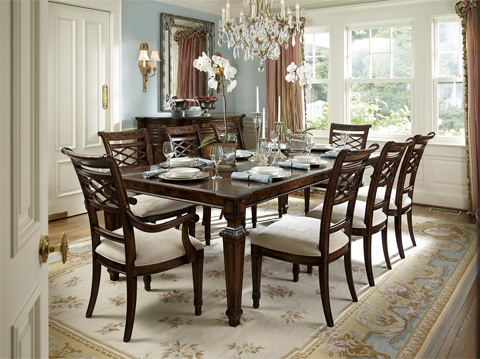 Fine Furniture Design - Lattice Arm Dining Chair - 1340-827