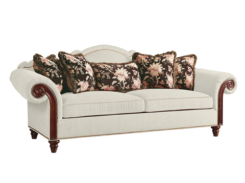 Fine Furniture Design Upholstery - Sofa with Wood Arm Panel - 5057-01