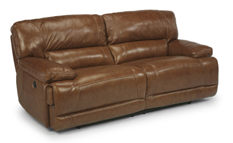 Flexsteel - Power Reclining Leather Sofa - 1237-62P