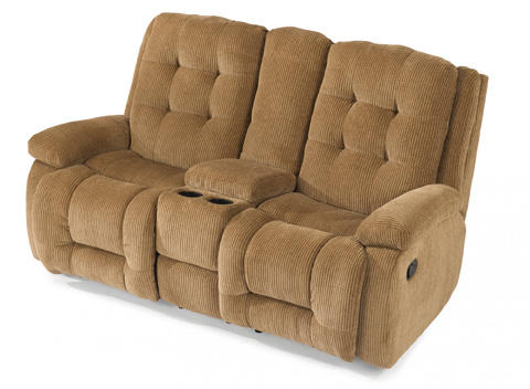 Flexsteel - Fabric Reclining Loveseat with Console - 4882-601