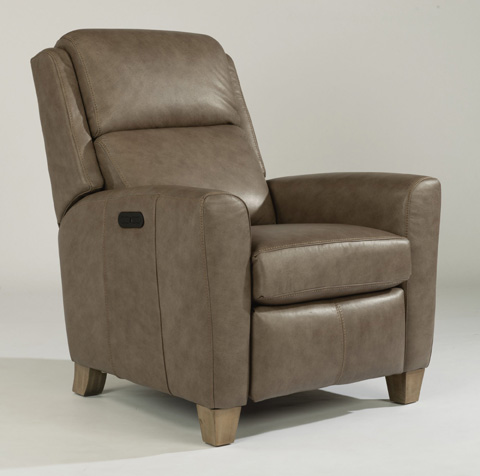 Image of Dion Leather Power High-Leg Recliner
