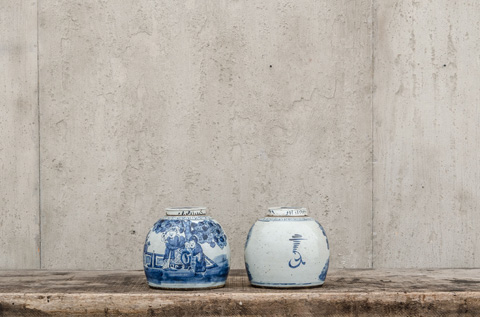 Four Hands - Chinese Blue Vase Pair - CVT-0079