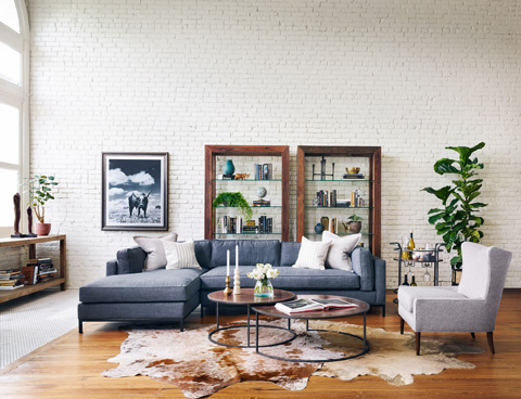 Four Hands - Grammercy Two Piece Sectional - UATR-001-BCH