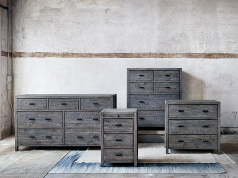 Four Hands - Six Drawers Tall Boy Chest - VCNB-06-55