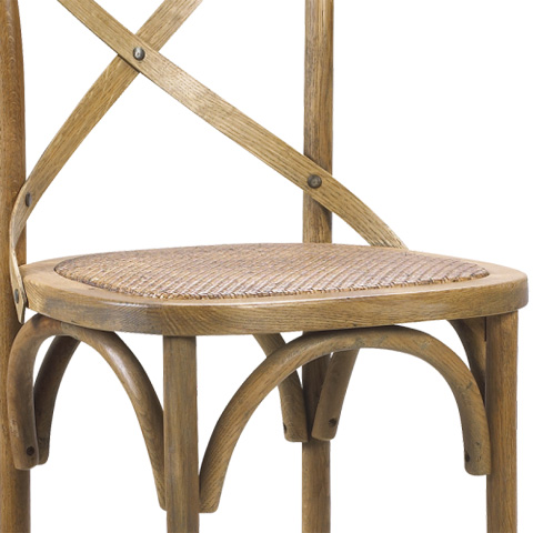 French Heritage - Bosquet Cross Back Barstool - M-2436-1001-LOK