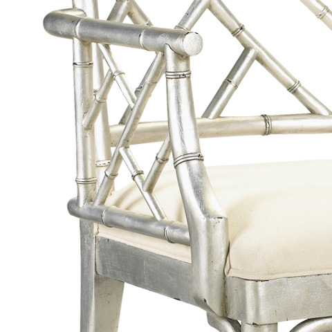 French Heritage - Moselle Metallic Bamboo Arm Chair - M-2527-201-SLV