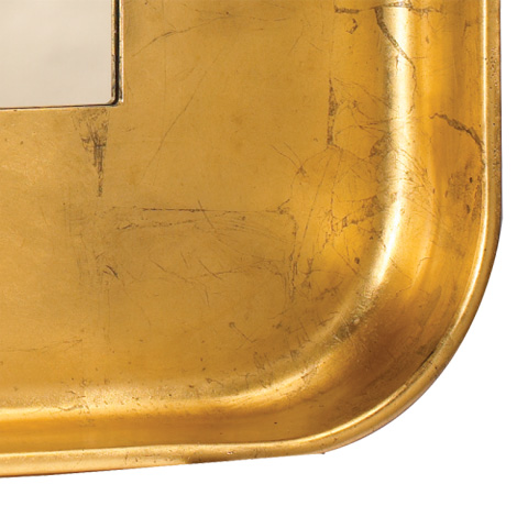 Image of Square Gold Wall Mirror