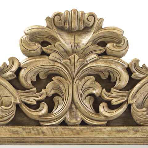 French Heritage - Gervais Heavily Carved Wall Mirror - M-8704-1204-DWC