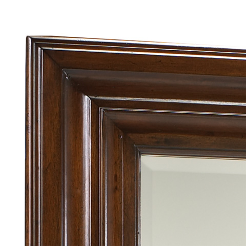 Image of Tall Rectangular Beveled Floor Mirror