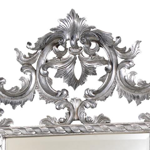 French Heritage - Louis XV Open Carved Metallic Mirror - M-8704-212-SLV