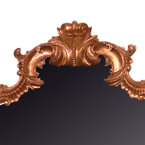 French Heritage - Louis XV Carved Floor Mirror in Gold Leaf - M-8704-214-GLD