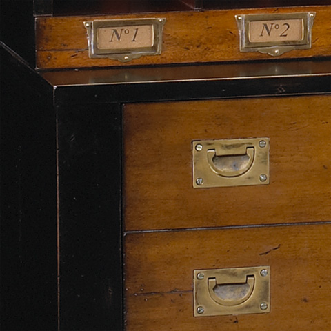 French Heritage - Lateral File Cabinet with Cube Storage - M-FL50-082E-BKR