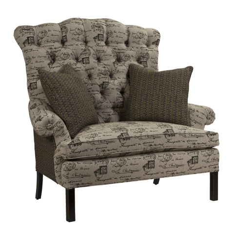 French Heritage - D'Artagnan High Back Settee - U-3061-0655
