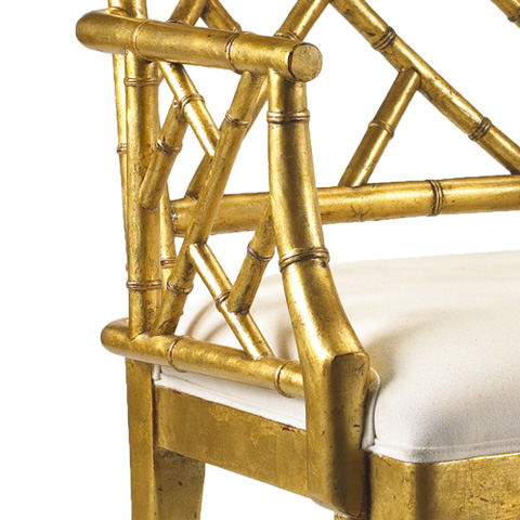 French Heritage - Moselle Arm Chair in Gold - M-2527-201-GL