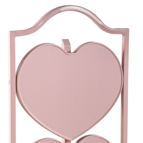 French Heritage - Small Heart Table in Pink - M-FT90-451-PINK