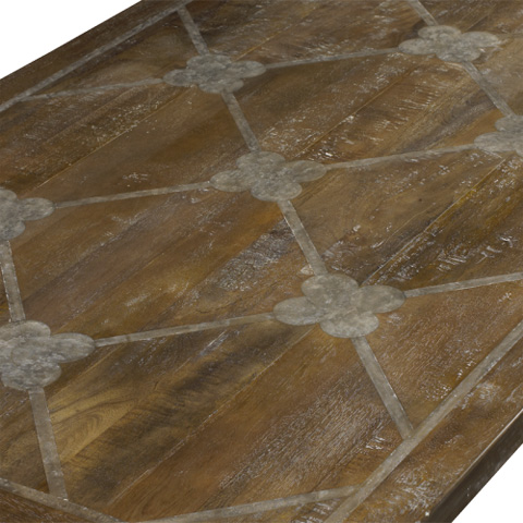 French Heritage - Cordoba Parquetry Dining Table - M-2520-1210-TBRM