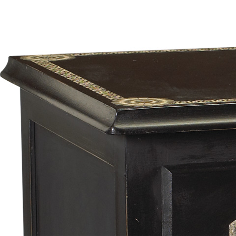 French Heritage - Umbria Neoclassic Chest - A-2402-102-BLK
