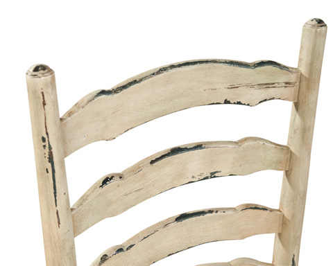 Furniture Classics Limited - Painted English Country Ladderback Side Chair - 1142L8