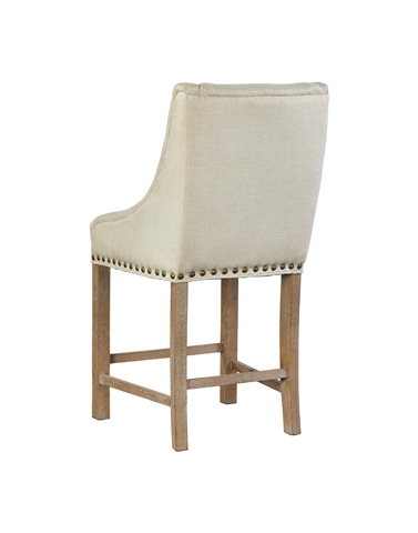 Furniture Classics Limited - Low Arm Curve Linen Counter Stool - 71940