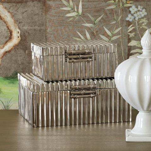 Global Views - Corrugated Bamboo Box - 9.92036