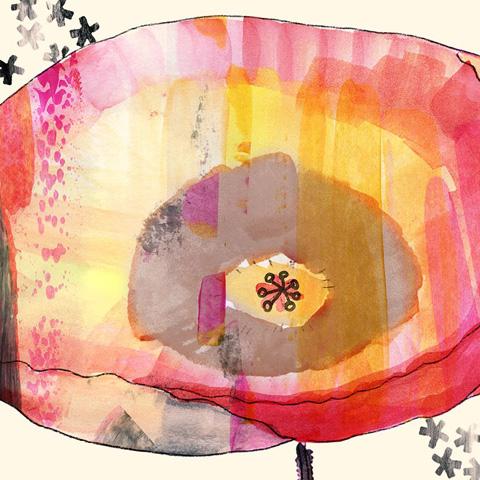 Greenbox Art - Painted Poppy Artwork - NB22436