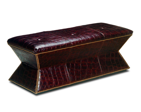 Chaddock - Leather Faceted Bench - L-0416-63