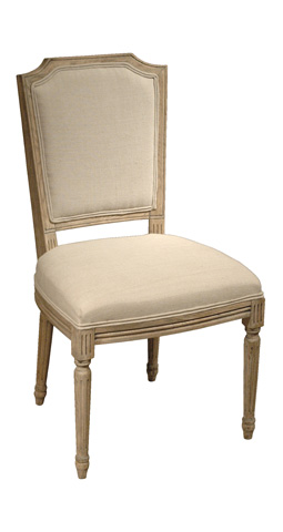 GJ Styles - Linen Dining Side Chair with Spindle Leg - AH08