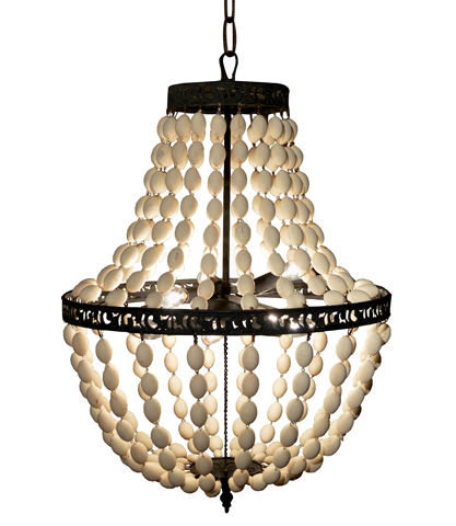 Image of Empire Wooden Bead Chandelier