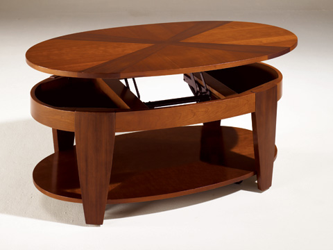 Hammary Furniture - Oval Cocktail Table with Lift-Top - T2003402-00