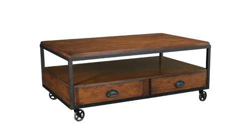 Hammary - Rectangular Storage Cocktail Table - T2075207-00