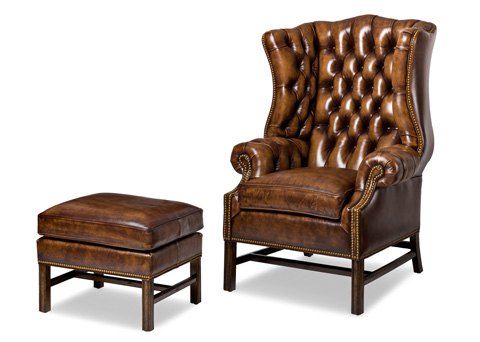 Hancock and Moore - Summerfield Chair and Ottoman - 4406