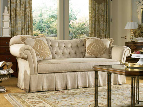 Image of Tufted Sofa with Roll Arms