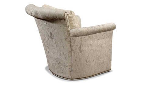 Image of Flared Back Swivel Lounge Arm Chair