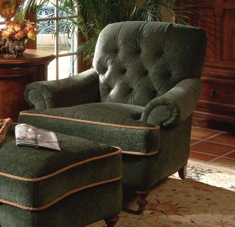 Image of Tufted Back Arm Chair
